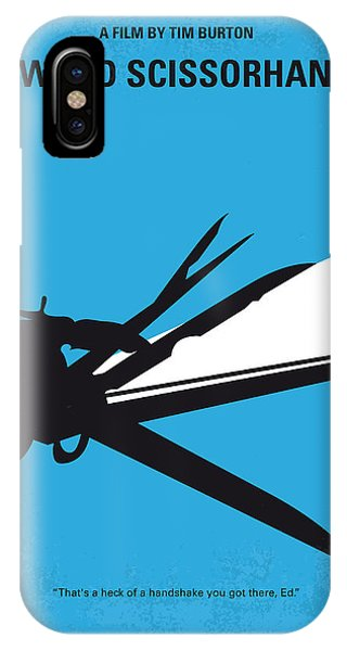 Castle iPhone Case - No260 My Scissorhands Minimal Movie Poster by Chungkong Art