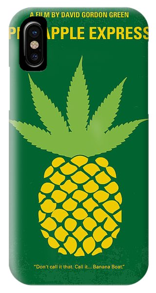 Fruit iPhone Case - No264 My Pineapple Express Minimal Movie Poster by Chungkong Art