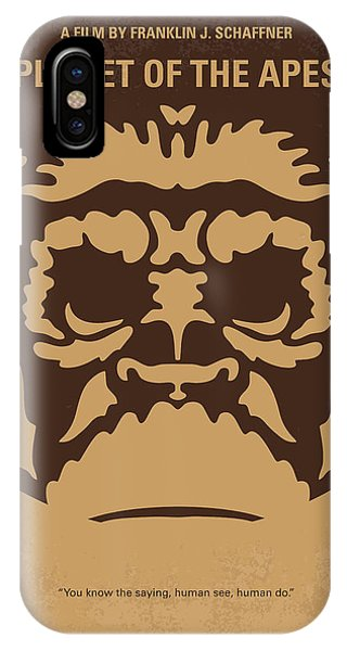 No270 My Planet Of The Apes Minimal Movie Poster IPhone Case