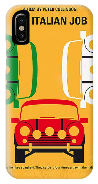 Retro iPhone Case - No279 My The Italian Job Minimal Movie Poster by Chungkong Art