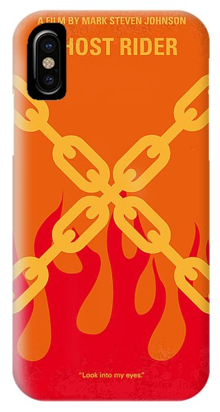 Ghost iPhone Case - No296 My Ghost Rider Minimal Movie Poster by Chungkong Art