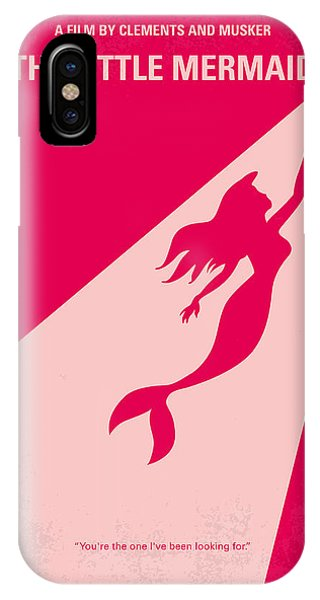 Mermaid iPhone Case - No314 My Mermaid Minimal Movie Poster by Chungkong Art