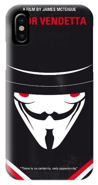 No319 My V For Vendetta Minimal Movie Poster IPhone Case