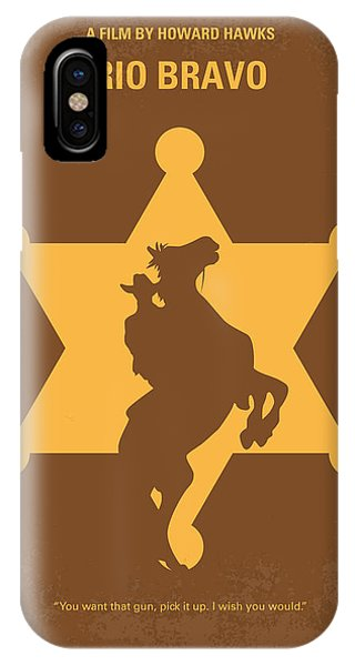 University iPhone Case - No322 My Rio Bravo Minimal Movie Poster by Chungkong Art