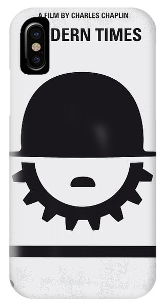 Industrial iPhone Case - No325 My Modern Times Minimal Movie Poster by Chungkong Art