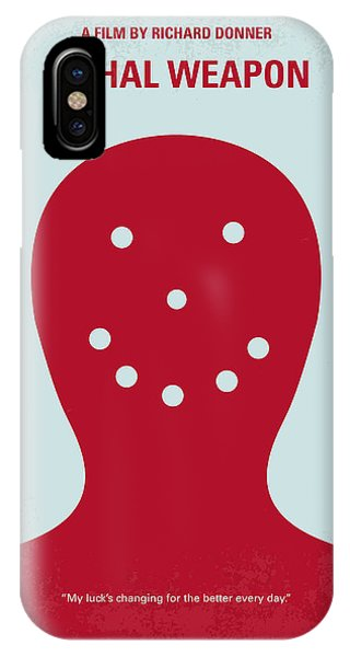 No327 My Lethal Weapon Minimal Movie Poster IPhone Case