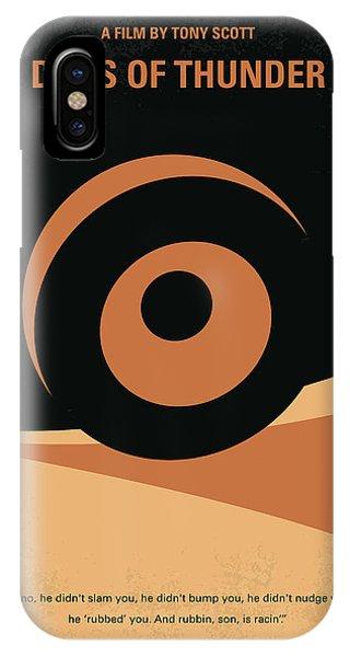 Crash iPhone X Case - No332 My Days Of Thunder Minimal Movie Poster by Chungkong Art