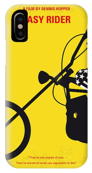 Motorcycle iPhone Case - No333 My Easy Rider Minimal Movie Poster by Chungkong Art