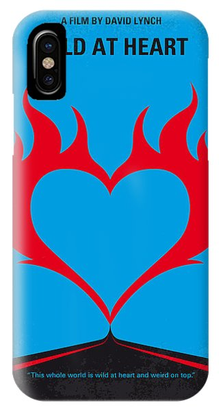 Hearts iPhone Case - No337 My Wild At Heart Minimal Movie Poster by Chungkong Art