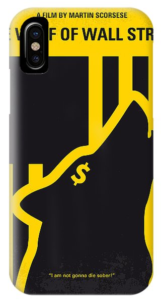 Cinema iPhone Case - No338 My Wolf Of Wallstreet Minimal Movie Poster by Chungkong Art