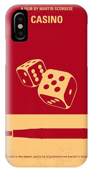 No348 My Casino Minimal Movie Poster IPhone Case