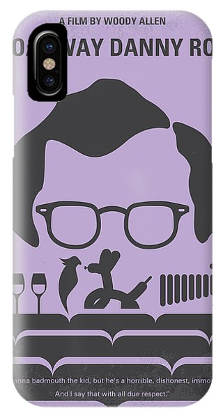 Floral iPhone Case - No363 My Broadway Danny Rose Minimal Movie Poster by Chungkong Art