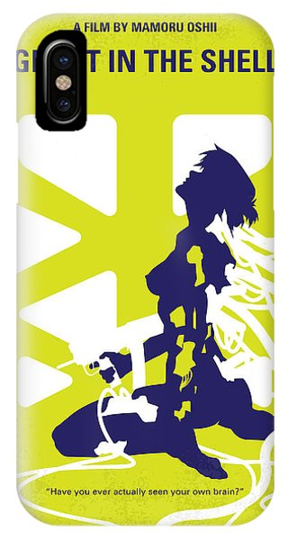 Ghost iPhone Case - No366 My Ghost In The Shell Minimal Movie Poster by Chungkong Art