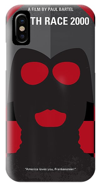 No367 My Death Race 2000 Minimal Movie Poster IPhone Case