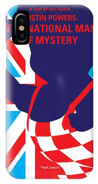 Austin iPhone Case - No373 My Austin Powers I Minimal Movie Poster by Chungkong Art