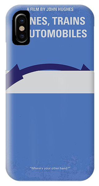 No376 My Planes Trains And Automobiles Minimal Movie Poster IPhone Case