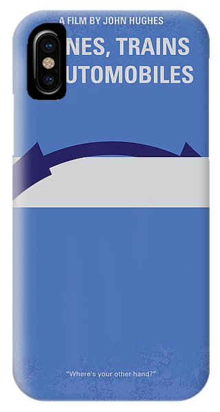 Train iPhone X Case - No376 My Planes Trains And Automobiles Minimal Movie Poster by Chungkong Art