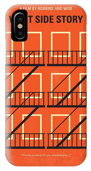 Jet iPhone X / XS Case - No387 My West Side Story Minimal Movie Poster by Chungkong Art