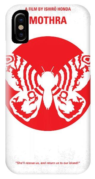 Moth iPhone Case - No391 My Mothra Minimal Movie Poster by Chungkong Art