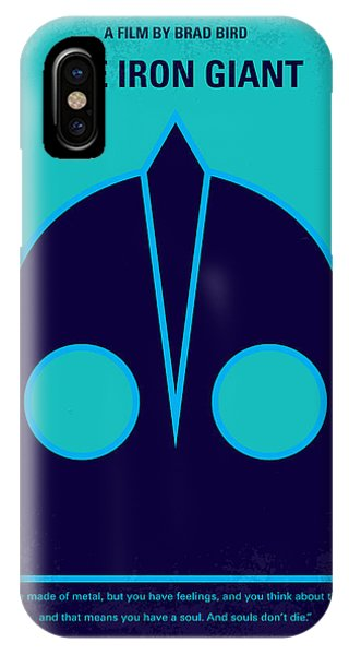 Aliens iPhone Case - No406 My The Iron Giant Minimal Movie Poster by Chungkong Art