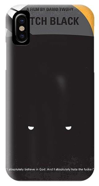 Space iPhone Case - No409 My Pitch Black Minimal Movie Poster by Chungkong Art
