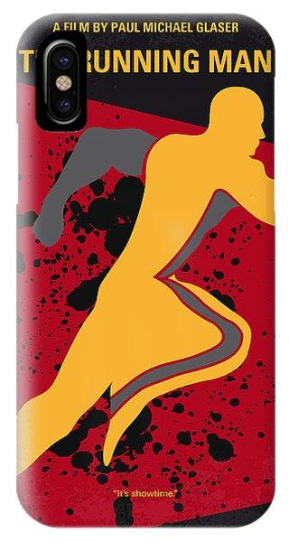 Running Back iPhone Case - No425 My Running Man Minimal Movie Poster by Chungkong Art
