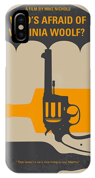 Middle iPhone Case - No426 My Whos Afraid Of Virginia Woolf Minimal Movie Poster by Chungkong Art