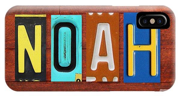 Noah License Plate Name Sign Fun Kid Room Decor. IPhone Case