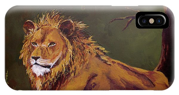 Noble Guardian - Lion IPhone Case