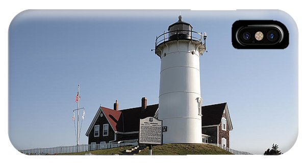 Nobska Lighthouse On Cape Cod At Woods Hole Massachusetts IPhone Case