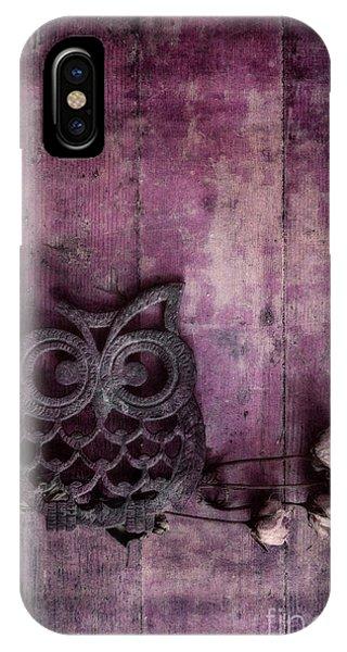 Dark Violet iPhone Case - Nocturnal In Pink by Priska Wettstein