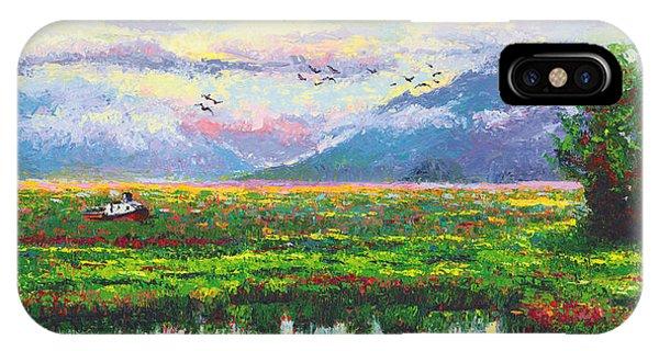 Nomad - Alaska Landscape With Joe Redington's Boat In Knik Alaska IPhone Case
