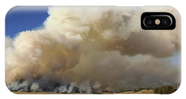 Norbeck Prescribed Fire Smoke Column IPhone Case