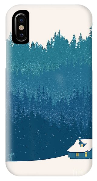 Christmas iPhone Case - Nordic Ski Scene by Sassan Filsoof