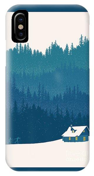 Forest iPhone Case - Nordic Ski Scene by Sassan Filsoof