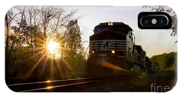 Norfolk And Southern At Sunset IPhone Case