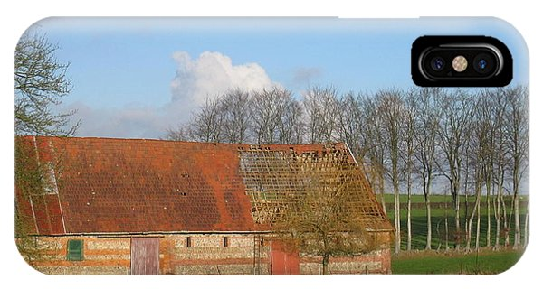 Normandy Storm Damaged Barn IPhone Case