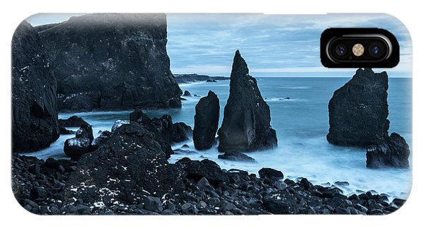 Basalt iPhone Case - North Atlantic Coast During Winter by Martin Zwick