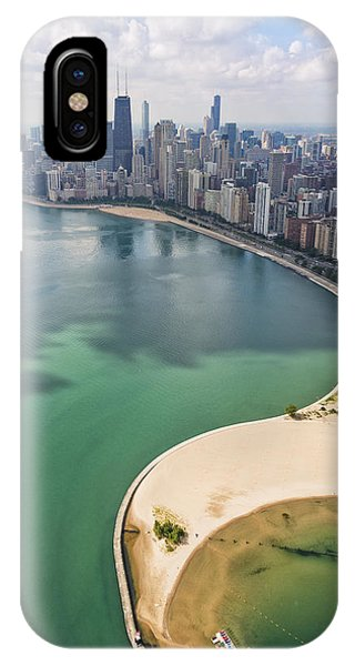 Aerial iPhone Case - North Avenue Beach Chicago Aerial by Adam Romanowicz