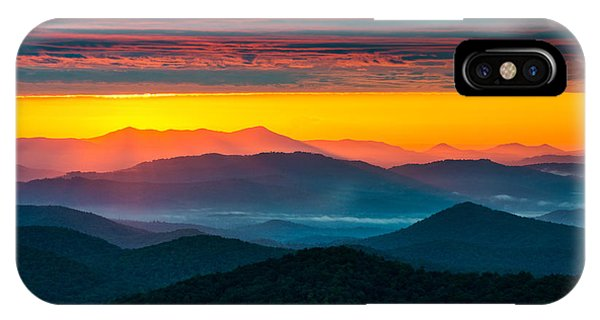 Appalachian Mountains iPhone Case - North Carolina Blue Ridge Parkway Morning Majesty by Dave Allen