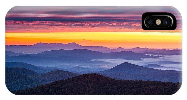 North Carolina Blue Ridge Parkway Nc Autumn Twilight Phone Case by Dave Allen