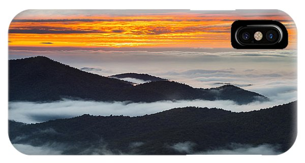 Nc iPhone Case - North Carolina Blue Ridge Parkway Sunrise by Dave Allen