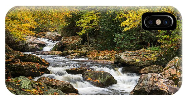 North Carolina Highlands Nc Autumn River Gorge IPhone Case