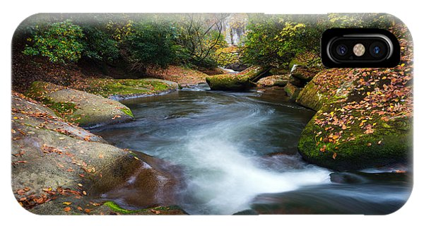 North Carolina Mountain River In Autumn Fall Foliage IPhone Case
