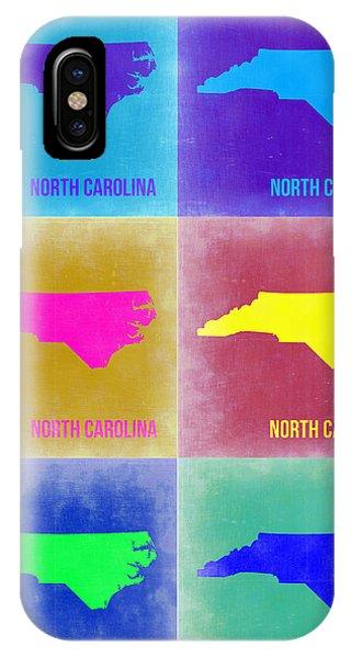 North Carolina iPhone Case - North Carolina Pop Art Map 2 by Naxart Studio