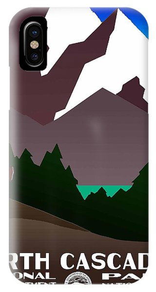 North Cascades National Park Vintage Poster IPhone Case