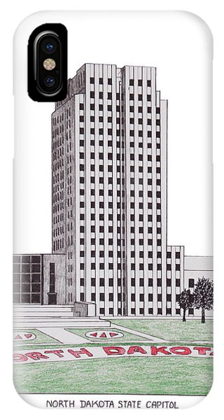 North Dakota Sate Capitol IPhone Case