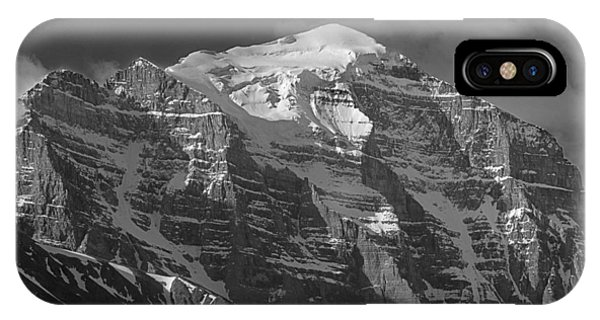 203553-north Face Mt. Temple Bw IPhone Case