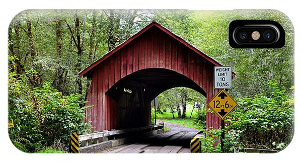 North Fork Yachats Covered Bridge IPhone Case