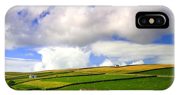 North Pennines Barns In Landscape IPhone Case